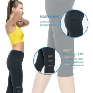 leggings with mesh side panels