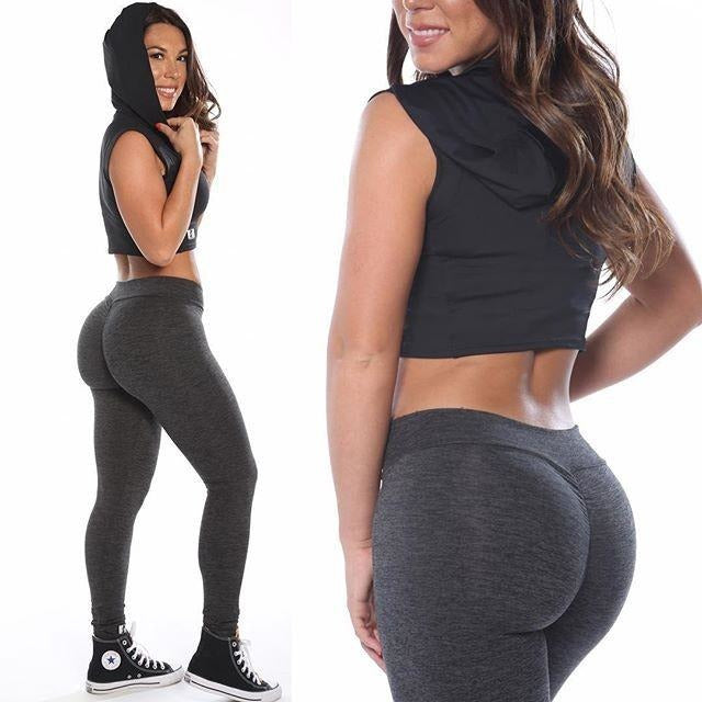 ACTIVEWEAR SCRUNCH BOOTY LEGGINGS - v cut leggings -prettyfitbox