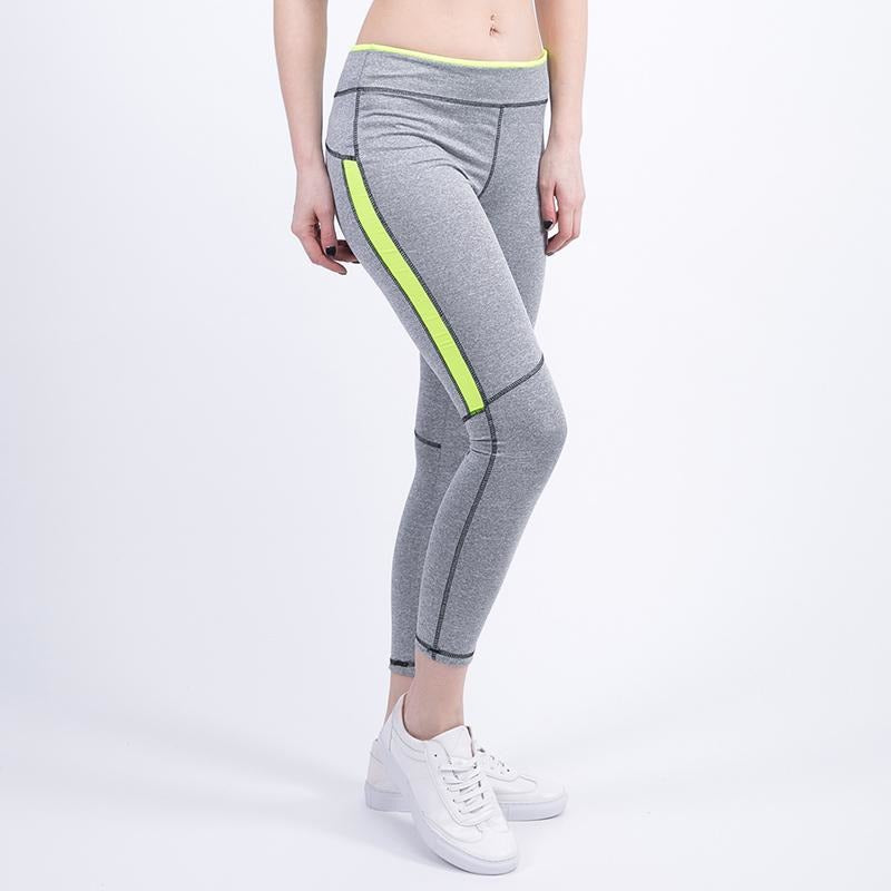 Womens Active Leggings - Neon