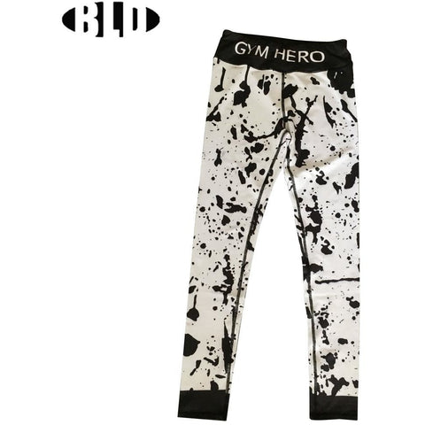 white paint splatter leggings