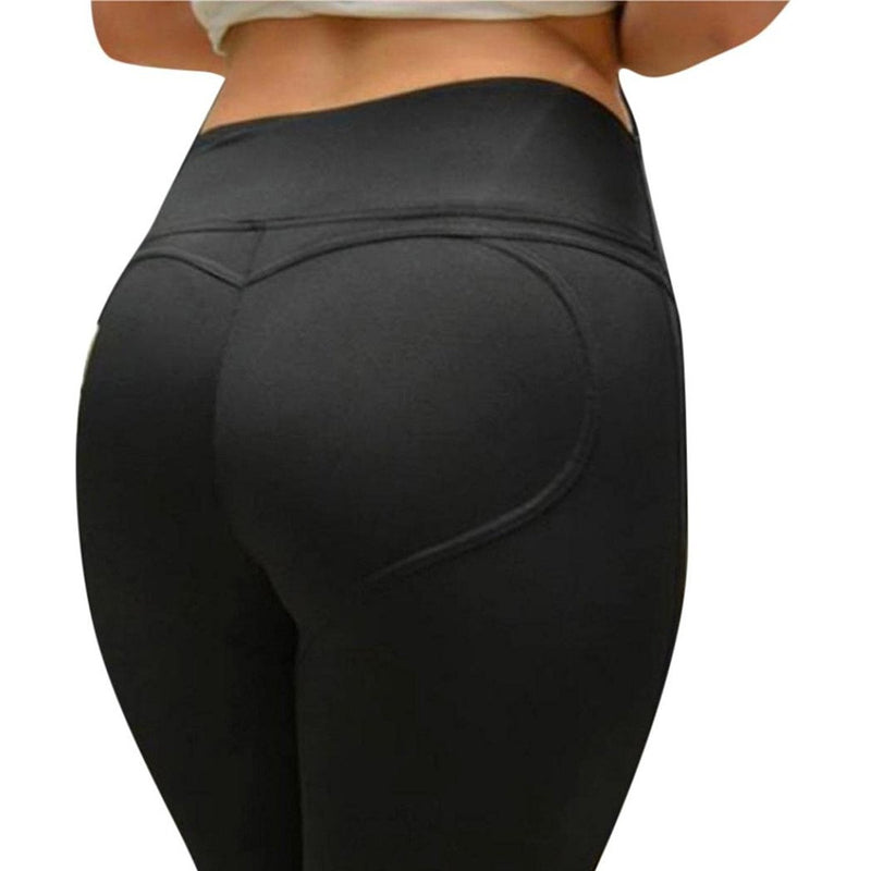 ACTIVEWEAR HEART SHAPED LEGGINGS BLACK-prettyfitbox.com