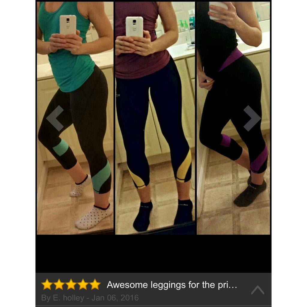 ACTIVEWEAR CAPRI DAY TO NIGHT REFLECTIVE LEGGINGS-prettyfitbox.com