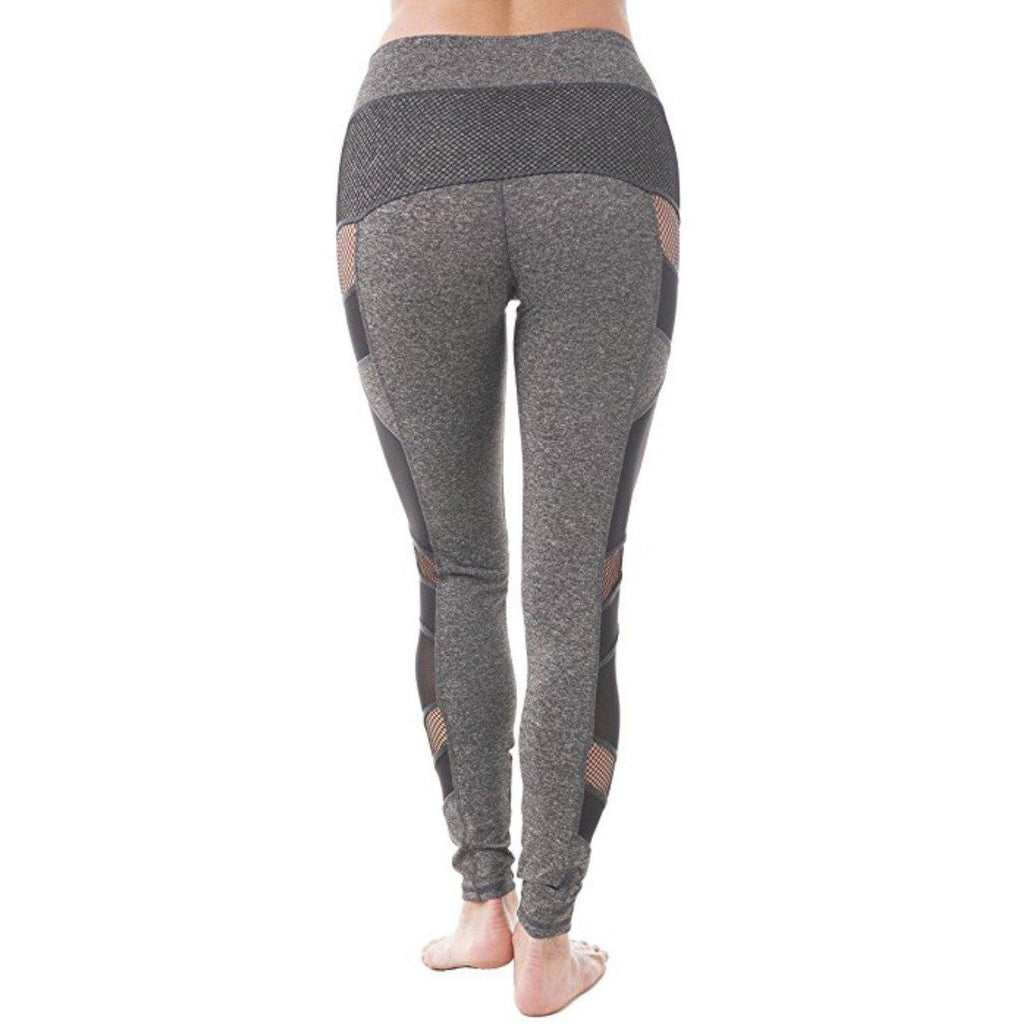 ACTIVEWEAR MESH PANEL LEGGINGS - Grey-prettyfitbox.com