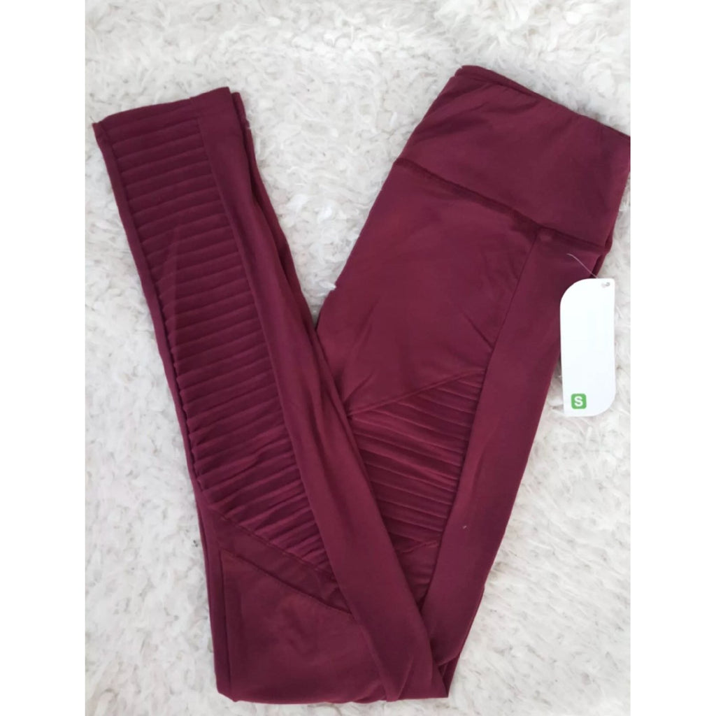 Moto Leggings Burgundy- prettyfitbox
