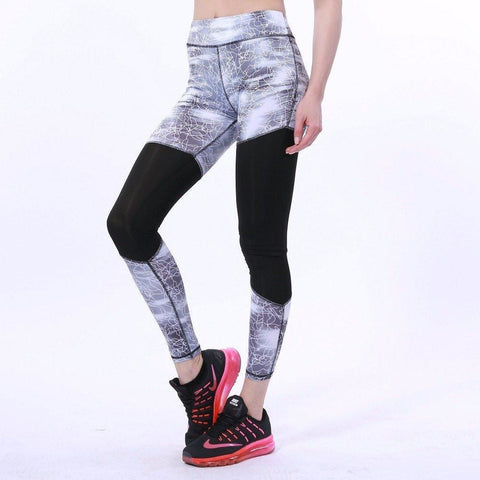 MARBLE LEGGINGS WHITE