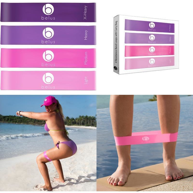 Belus Resistance Bands with Carry Bag, Video Download and eBook.-prettyfitbox.com