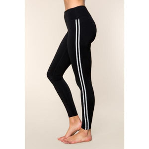 ACTIVEWEAR HIGH WAISTED VARSITY STRIPED LEGGINGS-prettyfitbox.com