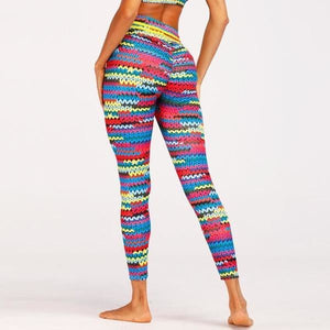 ACTIVEWEAR HIGH WAIST KNITTED PRINT LEGGINGS - Limited Edition-prettyfitbox.com
