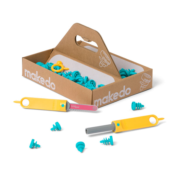 Kit contents - Makedo cardboard construction system EXPLORE Kit