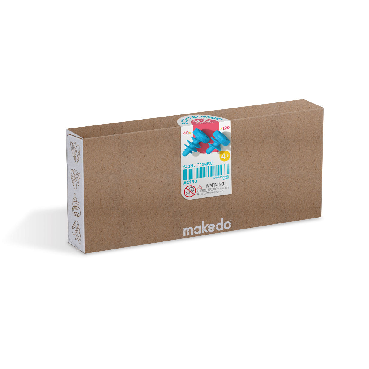 Makedo cardboard construction system - SCRU COMBO 160 piece kit.