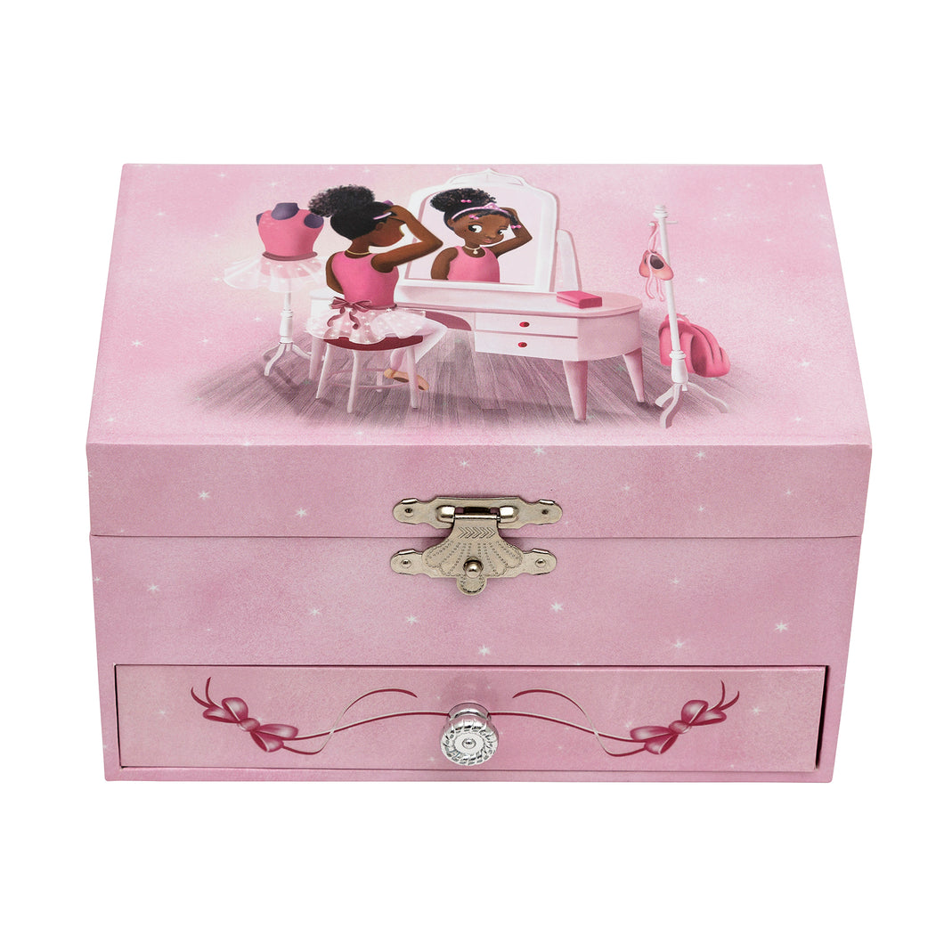 Nia Ballerina Musical Jewellery Box - Dressing Table
