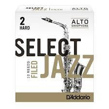D'Addario Select Jazz Alto Sax Reed Filed
