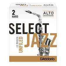D'Addario Select Jazz Alto Sax Reed Unfiled