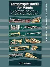Compatible Duets for Winds by Larry Clark - Clarinet/Tpt/Tnr