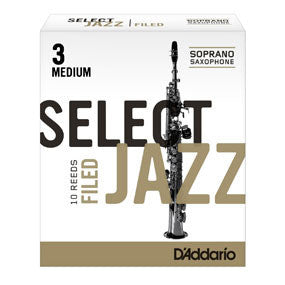 D'Addario Select Jazz Soprano Sax Reeds Filed
