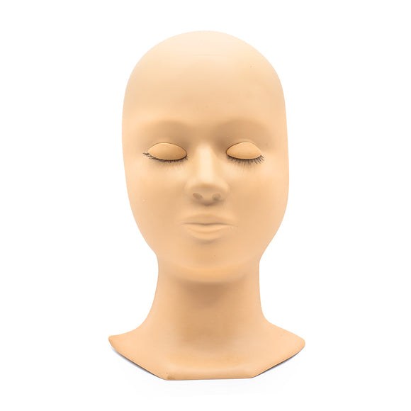 Mannequin Head with Removable Eyelids