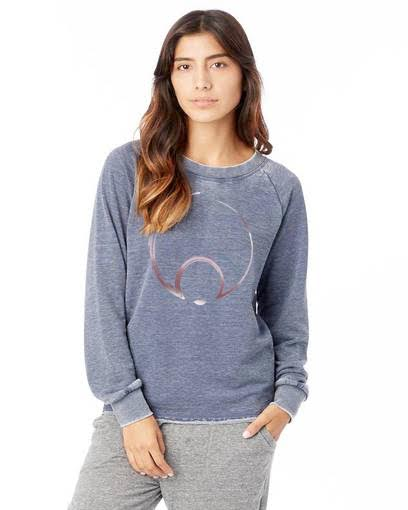 BLUE N SILVER DENIM SWEATER
