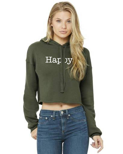 LADIES! THE LONG SLEEVE CROPPED HAPPY HOOD