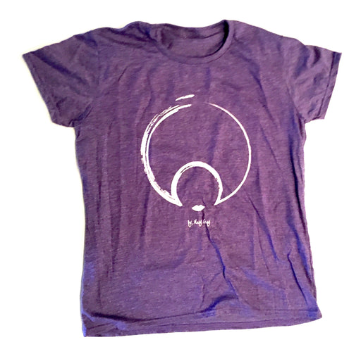 CLASSIC LOGO TEE in black and heather purple