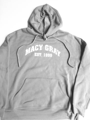 THE ESTABLISHED HOOD IN GRAY AND WHITE