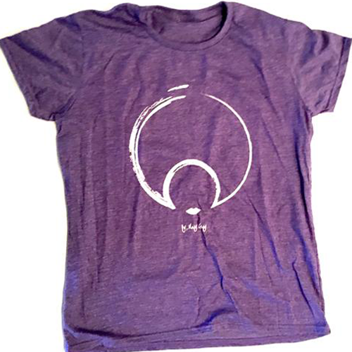THE ORIGINAL LOGO TEE IN BLACK AND HEATHER PURPLE