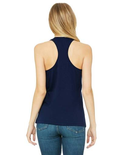 THE LADIES  LOGO TANK IN MAUVE AND NAVY BLUE