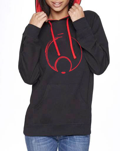 NEW! BLACK N RED PULLOVER HOOD