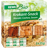 Shop 2x Rewe Bio Crunchy Snack Almond Cashew & Sesame 3 x 25g at great prices on discandooo.com
