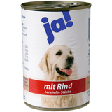 Shop 6x Ja! Dog Food Wet With Beef Savoury Pieces 400g at great prices on discandooo.com