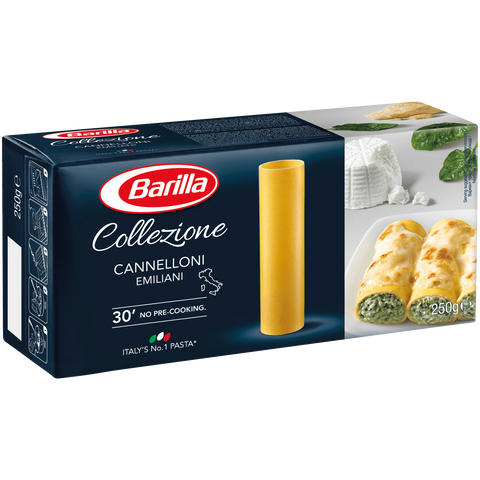 Shop 2x Barilla Pasta Collezione Cannelloni 250g at great prices on discandooo.com