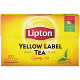 Shop 2x Lipton Black Tea Yellow Label 20 Bags at great prices on discandooo.com