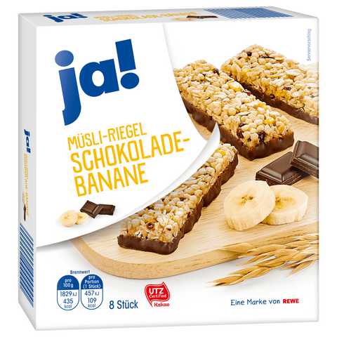 Shop 6x Ja! Granola Bars Chocolate Banana 8 x 25g at great prices on discandooo.com