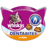 Shop 4x Whiskas Cat Snack Denta Bites with Chicken 40g at great prices on discandooo.com