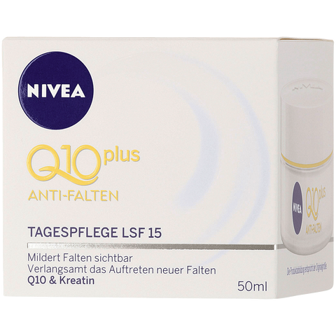 Shop Nivea Q10 Plus Day Cream Anti-Wrinkle SPF 15 50ml at great prices on discandooo.com
