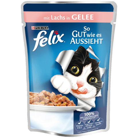 Shop 5x Felix (Pussi) Cat Food Wet Salmon 100g at great prices on discandooo.com