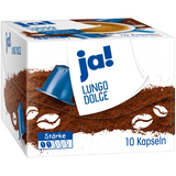 Shop 3x Ja! Lungo Dolce Coffee Capsules (Nepresso compatible) 10 Piece(s) at great prices on discandooo.com