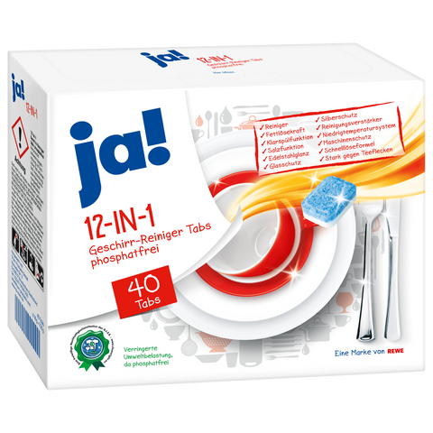 Shop 2x Ja! Dishwasher Tabs 12-In-1 40 Piece(s) at great prices on discandooo.com