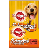 Shop 3x Pedigree Schmackos Dog Snacks Meaty Sticks 33g at great prices on discandooo.com