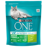 Shop Purina One Cat Food Dry Indoor Formula Turkey 800g at great prices on discandooo.com