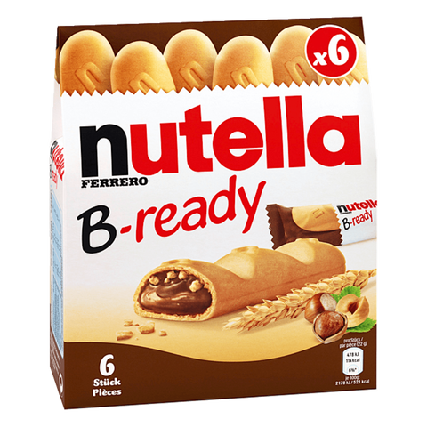 Shop 2x Nutella B-Ready Waffles Filled With Chocolate Spread 6 x 22g at great prices on discandooo.com