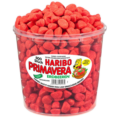 Shop Haribo Wine Gums Primavera Strawberry 500 Piece(s) at great prices on discandooo.com