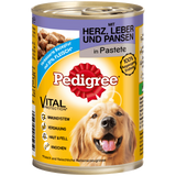 Shop 3x Pedigree Pate Classic With Heart Liver & Rumen 400g at great prices on discandooo.com