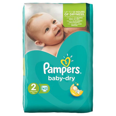 Shop Pampers Baby Dry Diapers Mini Size 2 (3-6Kg) 46 Piece(s) at great prices on discandooo.com