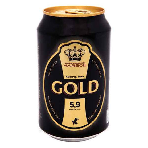 Shop Harboe Gold Beer 5.9% 24 x 330ml at great prices on discandooo.com