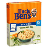 "Uncle Bens Wholegrain Rice  ""Boil-In-Bag"" 500g"