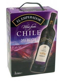 "El Emperador Merlot Red Wine 13% ""Bag in Box"" 3L"