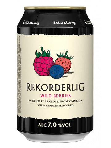 Rekorderlig Wild Berries Extra Strong Cider 7% 24 x 330ml