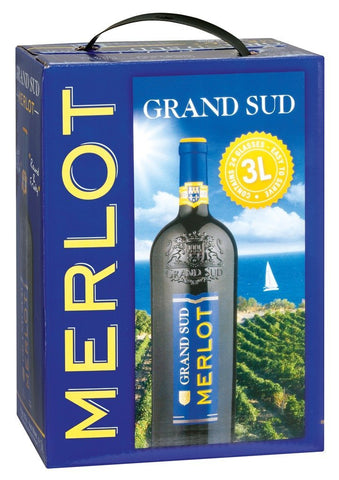 "Grand Sud Merlot 13% ""Bag in Box"" 3L"