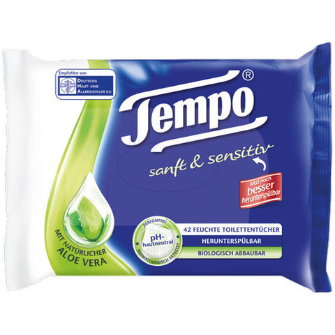 Shop 2x Tempo Wet Toilet Paper Soft & Sensitive 42 Piece(s) at great prices on discandooo.com