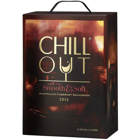 "Chill Out Smooth & Soft Cabernet Sauvignon Red Wine Dry 14% ""Bag in Box"" 3L"